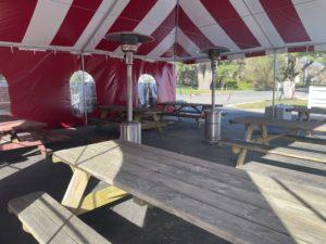 outdoor tent interior