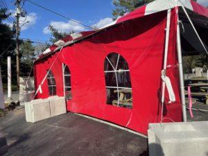 outdoor tent side