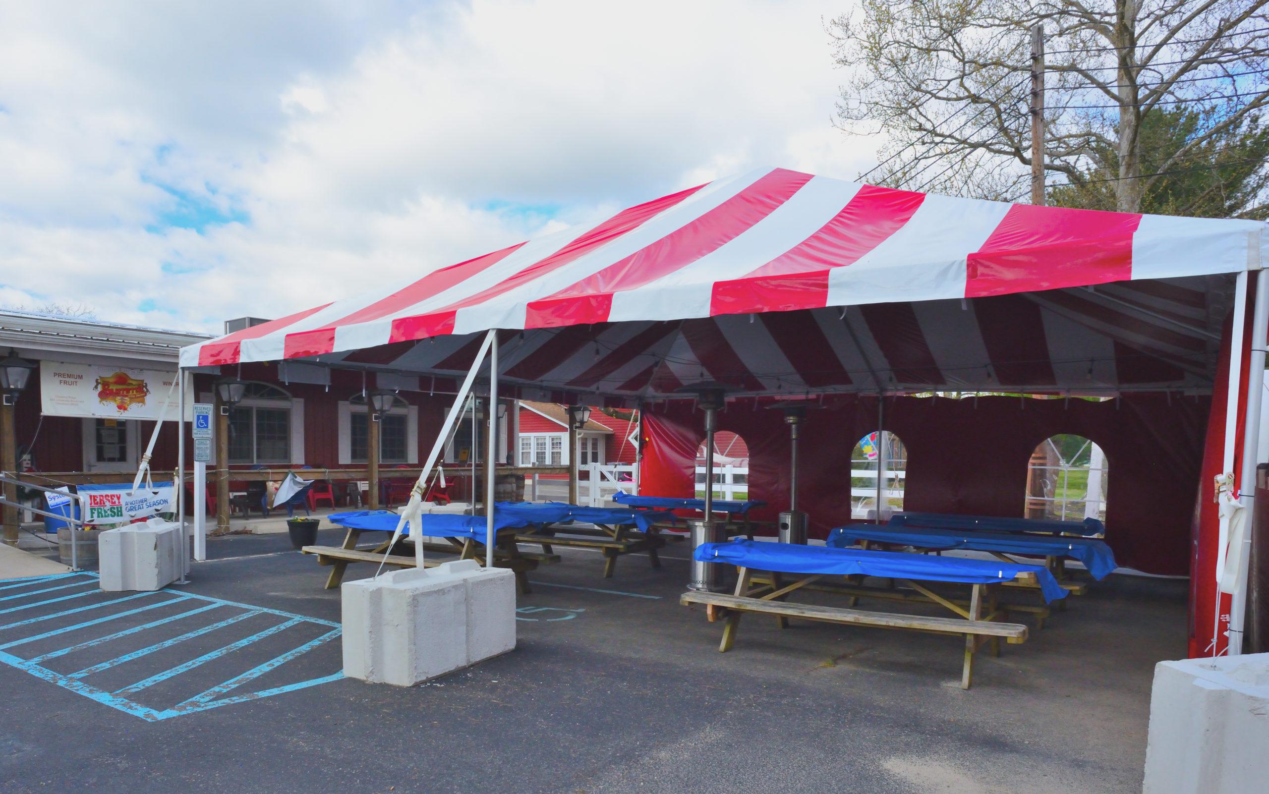 outdoor tent exterior view